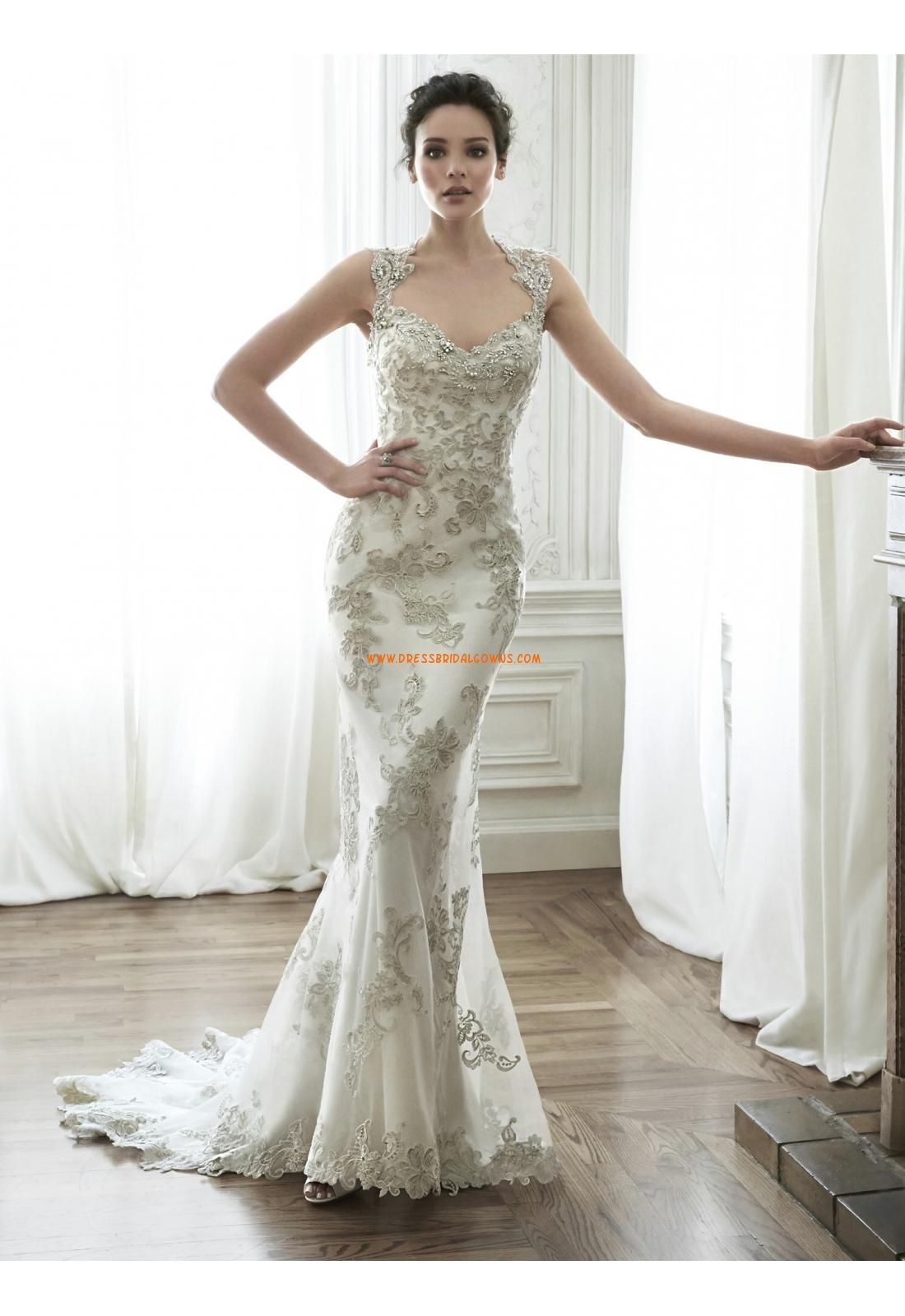 Maggie Sottero Mermaid Backless Wedding Dresses - Style Jade 5MD056 ...
