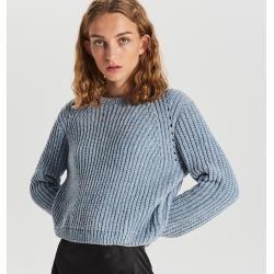 Photo of Cropp – Loose knit jumper – Marineblau CroppCropp