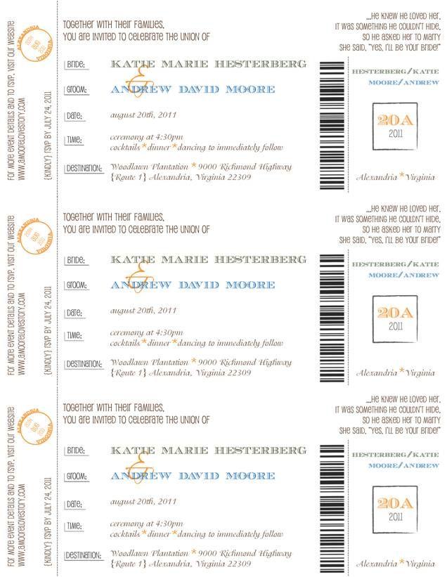 DIY Boarding Pass Wedding Invitations u2013 Part One Pocket Fold - best of wedding invitation design software free download