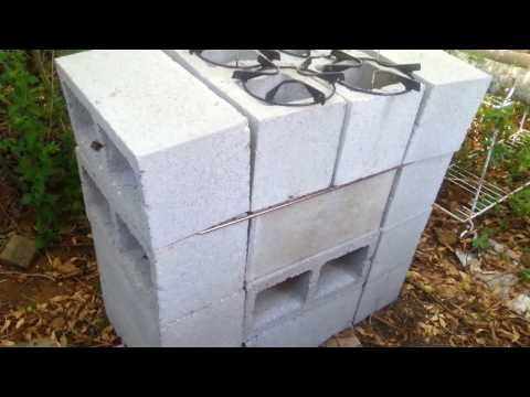 How i built my rocket stove, grill. oven all in one - YouTube