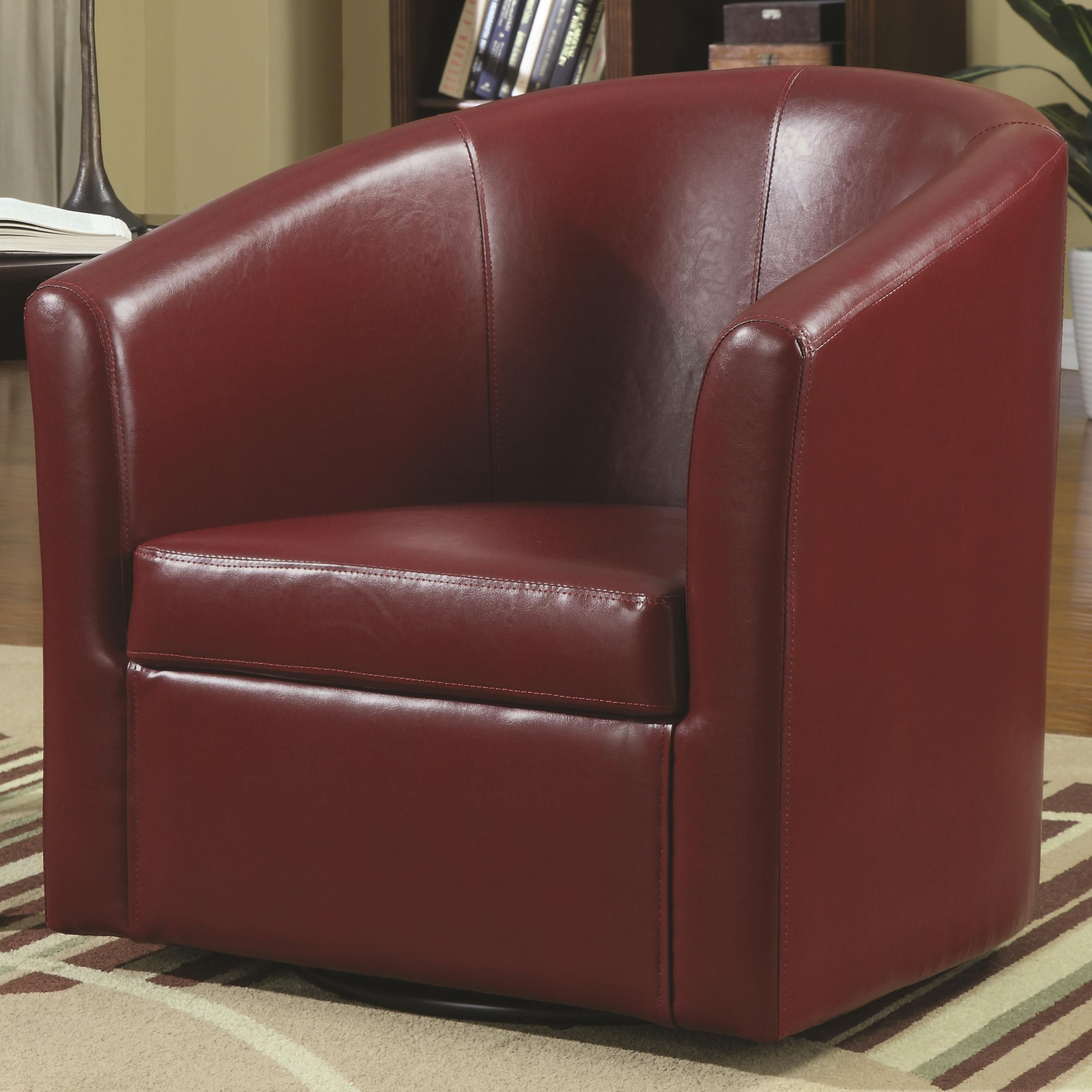 Accent seating swivel accent chair by coaster accent