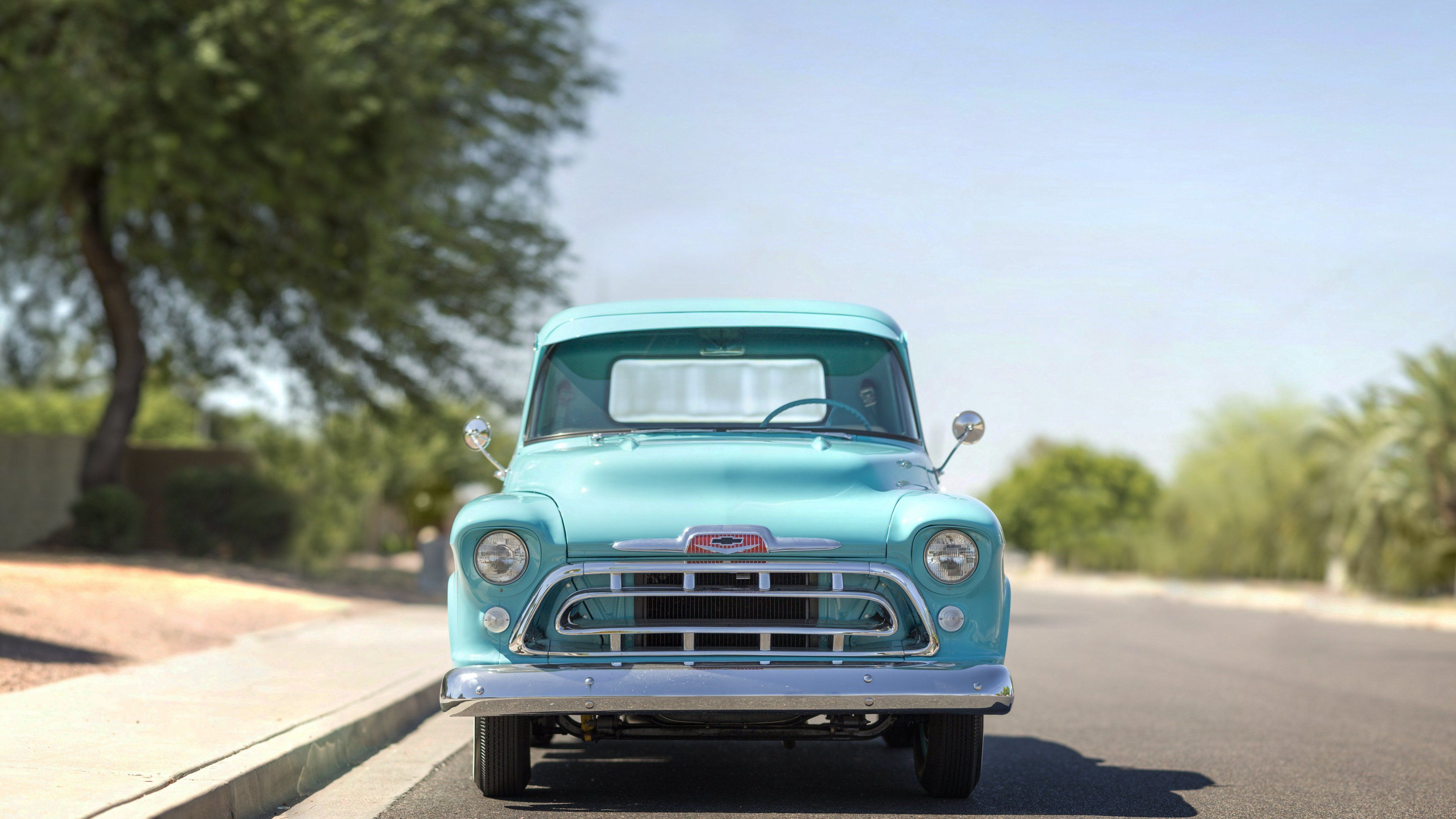 1957 Chevrolet Chevy Classic Old Vintage Car 4k Car Wallpapers
