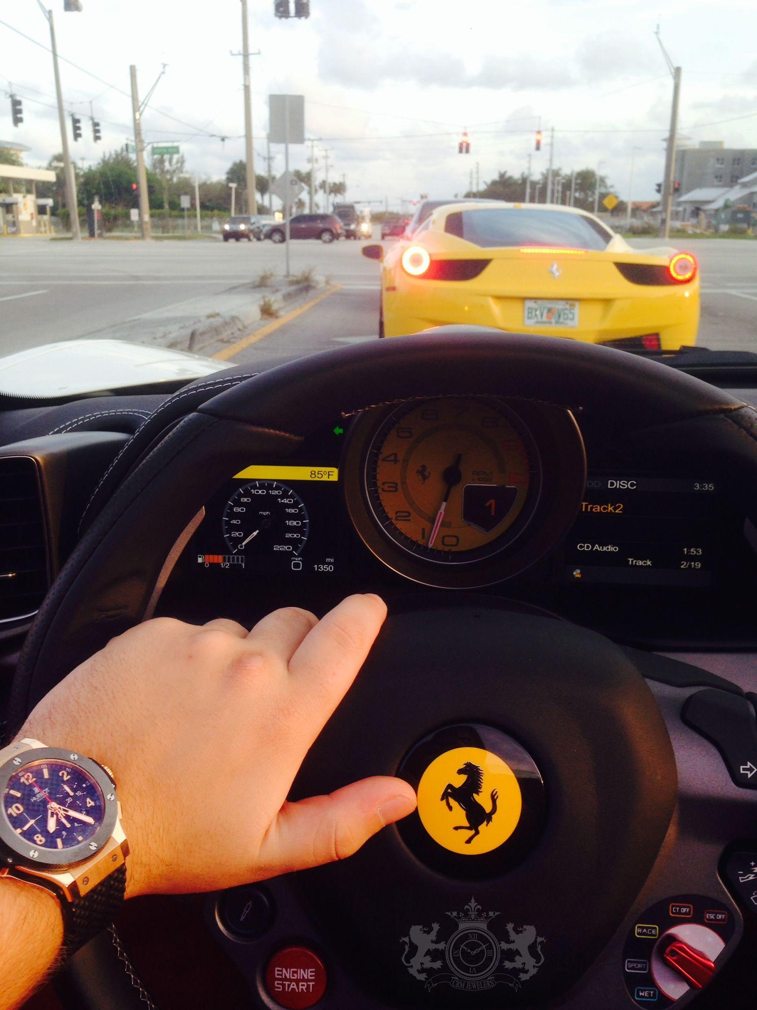 Ferrari 458 Italia Hublot Big Bang Evolution bo ticking through