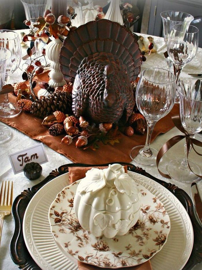 20 Thanksgiving Dining Table Setting Ideas & 20 Thanksgiving Dining Table Setting Ideas | Dining table settings ...