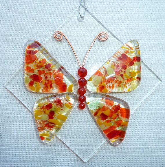 Butterfly Fused Glass Suncatcher by LaDeansDesigns on Etsy ... - photo#39