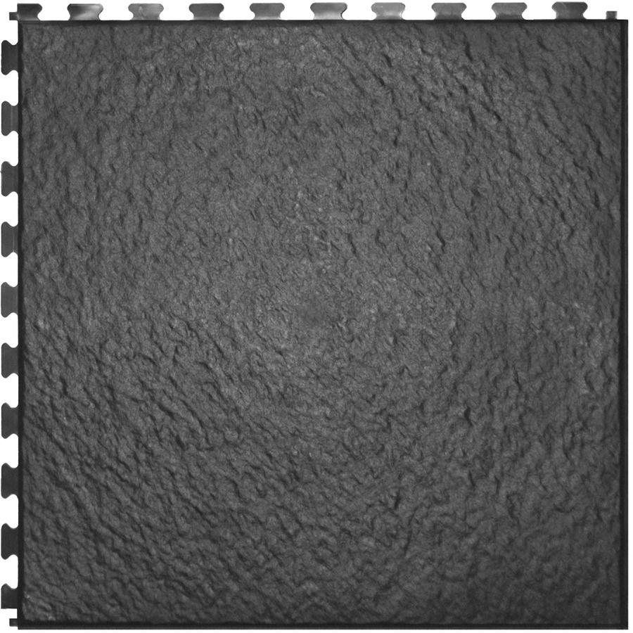 Perfection Floor Tile 6 Piece 20 In X 20 In Dark Gray Slate Garage