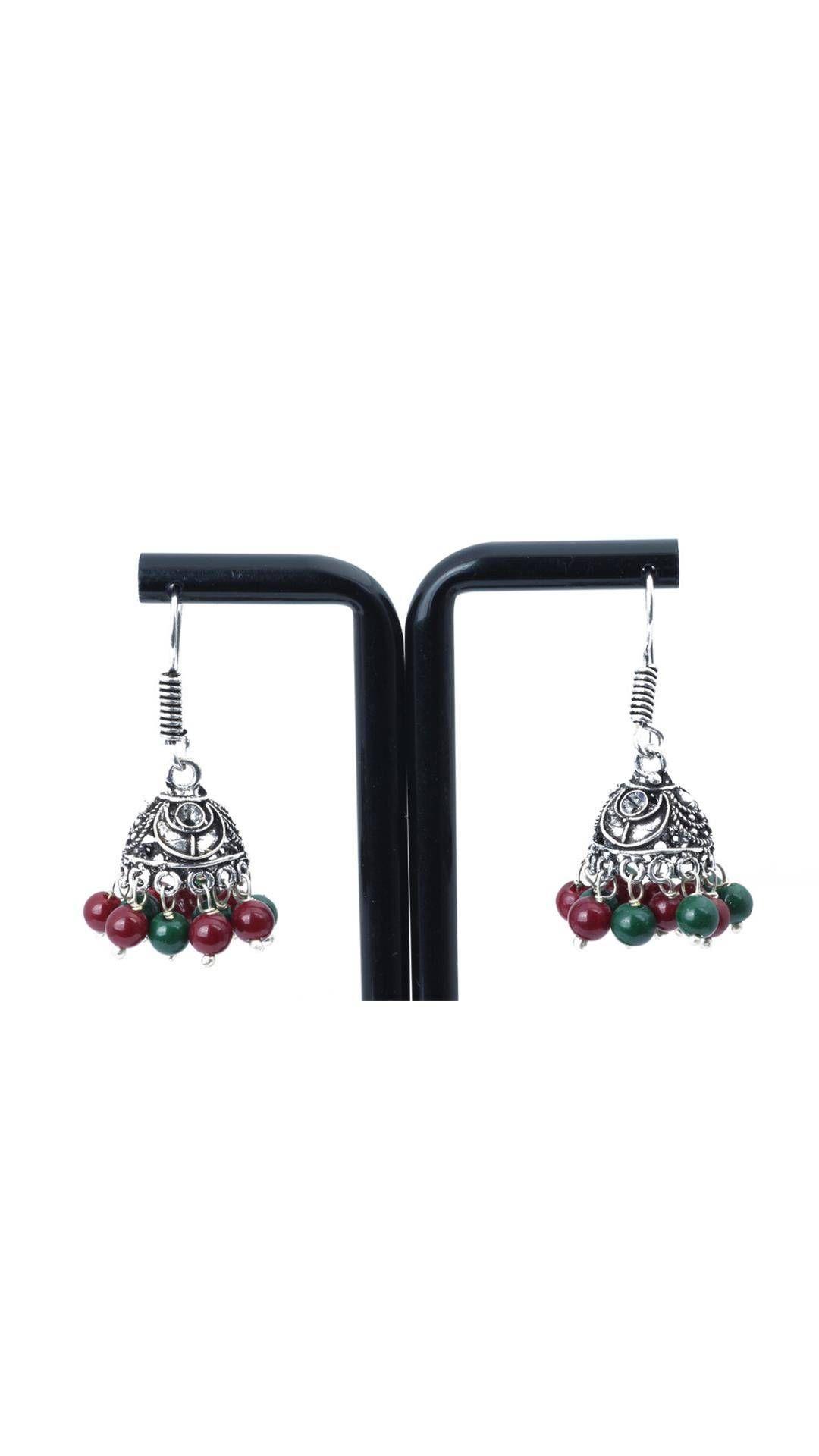 Waama Jewels lovely red green Metal Drop Earring Earring Wear in