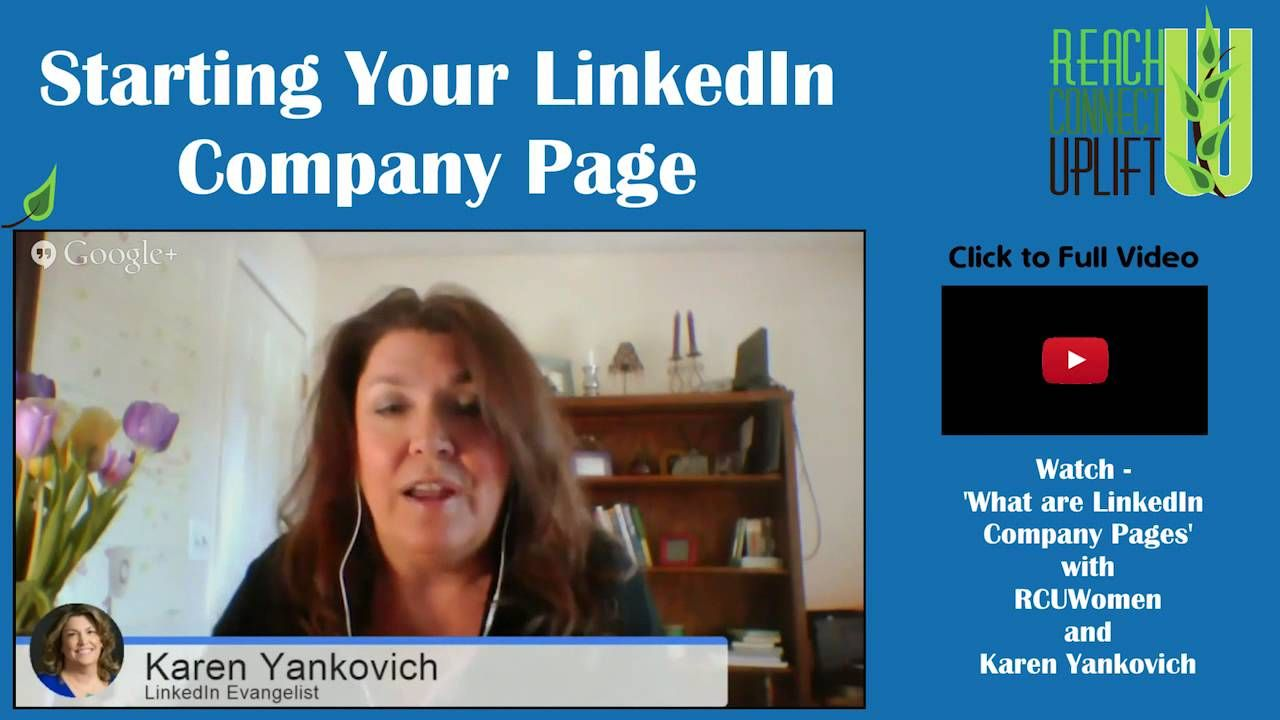 So you want a Linkedin company page, but don't know where to start...here are some tips by Karen Yankovich