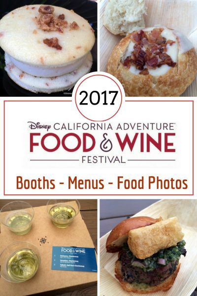 2017 disney california adventure food and wine festival booths menus and food photos