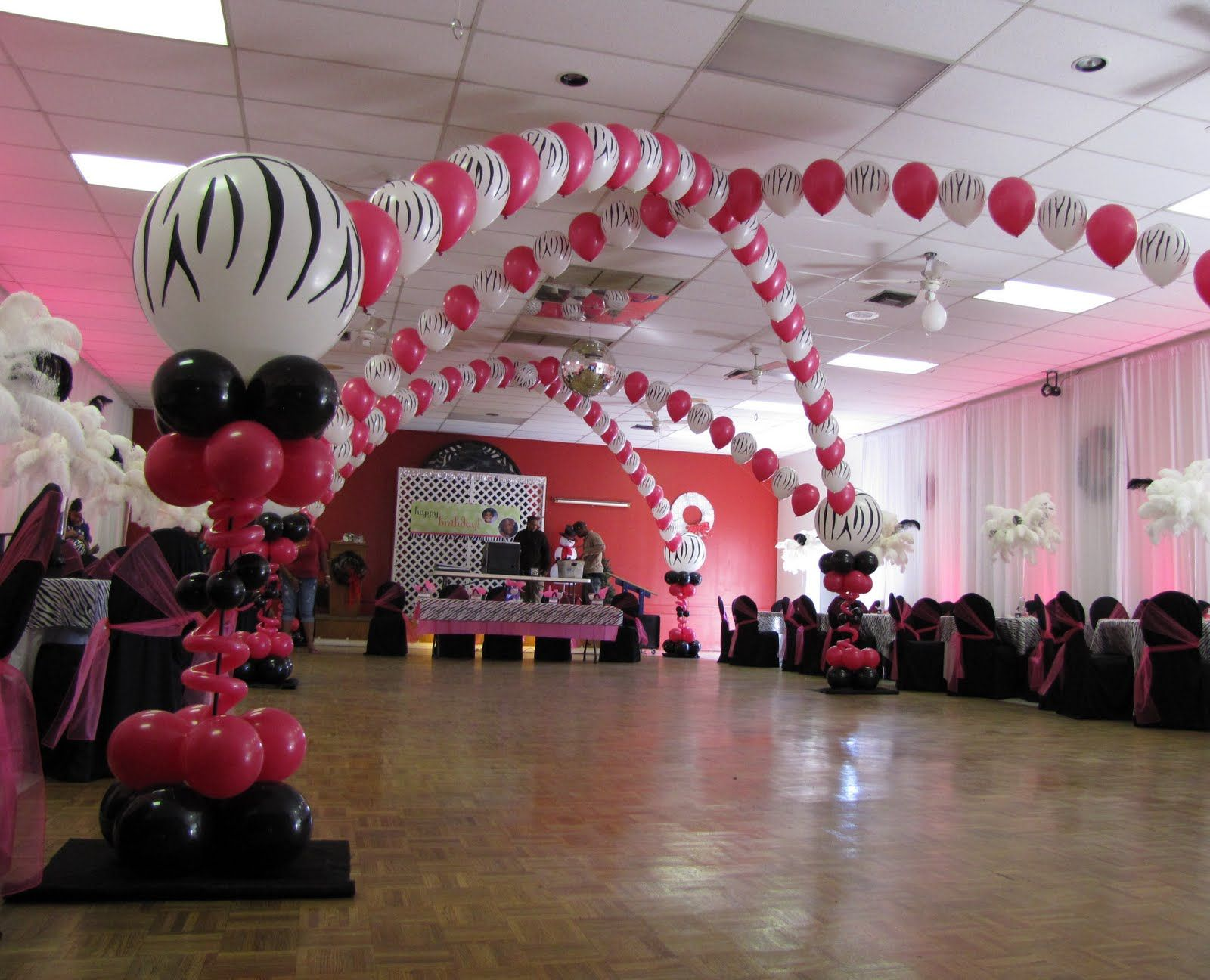 Sweet 16 Room Decorations Event Decor Custom Balloon decor