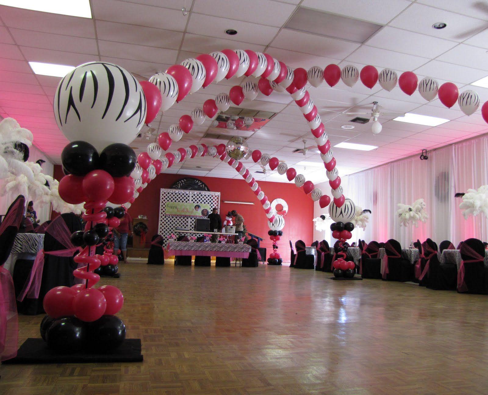Elegant Birthday Hall Decoration