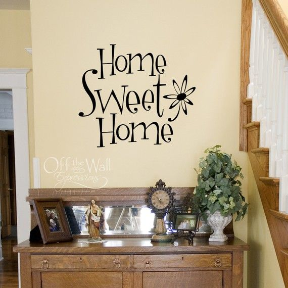 Vinyl Wall Decal Home Sweet Home By OffTheWallExpression On Etsy, $18.00 Part 35
