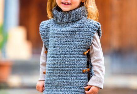 Faltbare Einkaufstasche #crochetponchokids