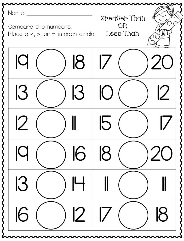 40+ Preschool number worksheets 1 20 Online