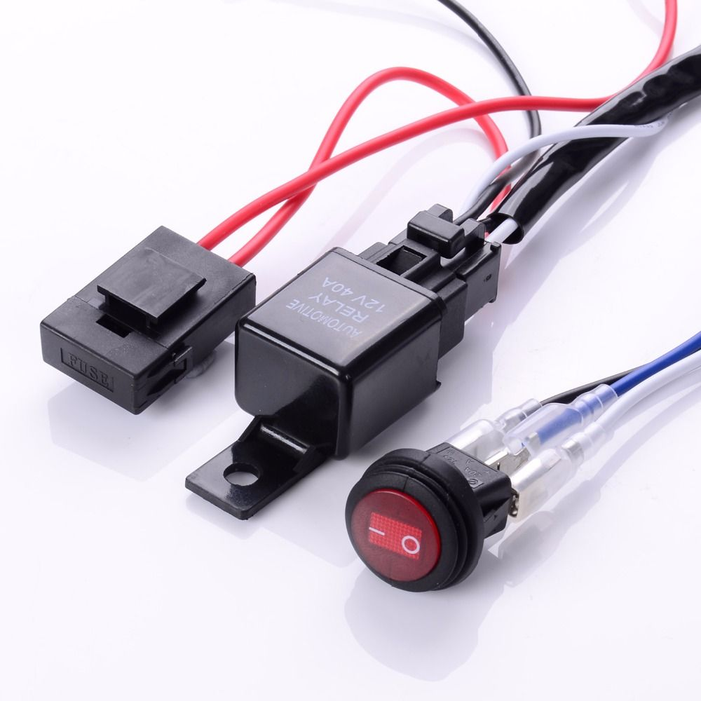 Excellent Eyourlife Wiring Harness Kit 12V 40A Off Road Led Light Bar Relay On Wiring Database Rimengelartorg