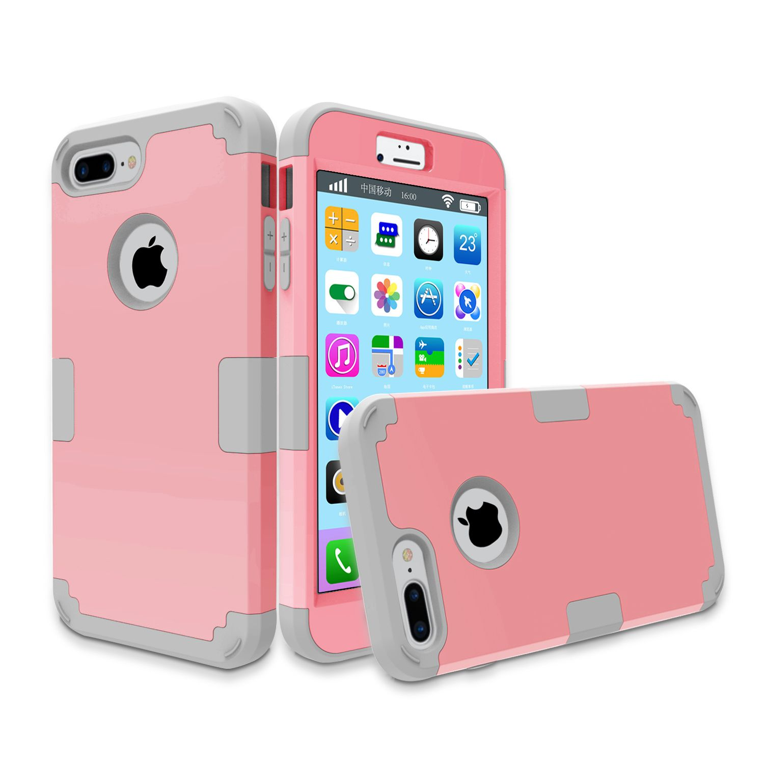 For iphone7 plus armor case Hybrid Hard & Silicone Shock Proof cell Phone Case For iPhone 7 7 Plus Shell Cover Multi colors