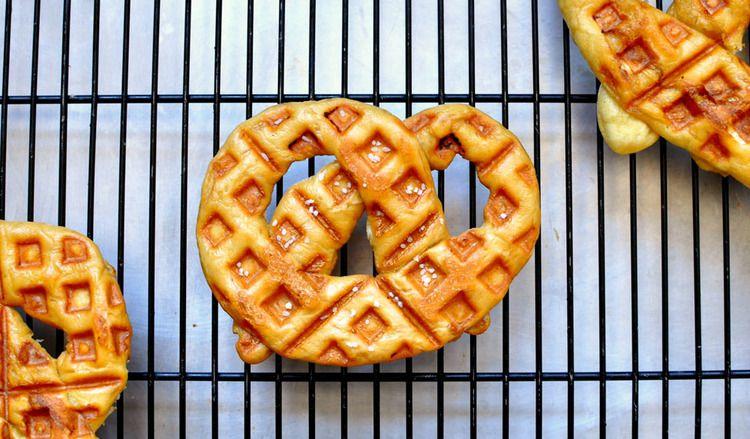 Waffled soft pretzels — Will It Waffle?