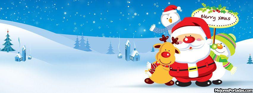 81e9f1829f542 Feliz navidad Papa Noel - ÷ Las Mejores Portadas para tu perfil de Facebook  ÷
