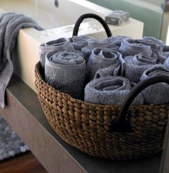 Towel Storage Roll Them Up Towel Storage Hand Towels Bathroom Towel Basket