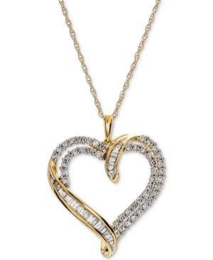 22a8460ed97 Diamond Heart Pendant Necklace (1 ct. t.w.) - Gold in 2019 ...