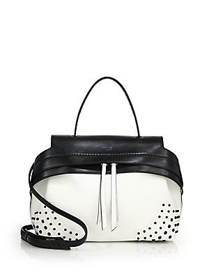 61dc1afd5c5 Tod s Wave Small Two-Tone Gommini Leather Satchel   Apparel and ...