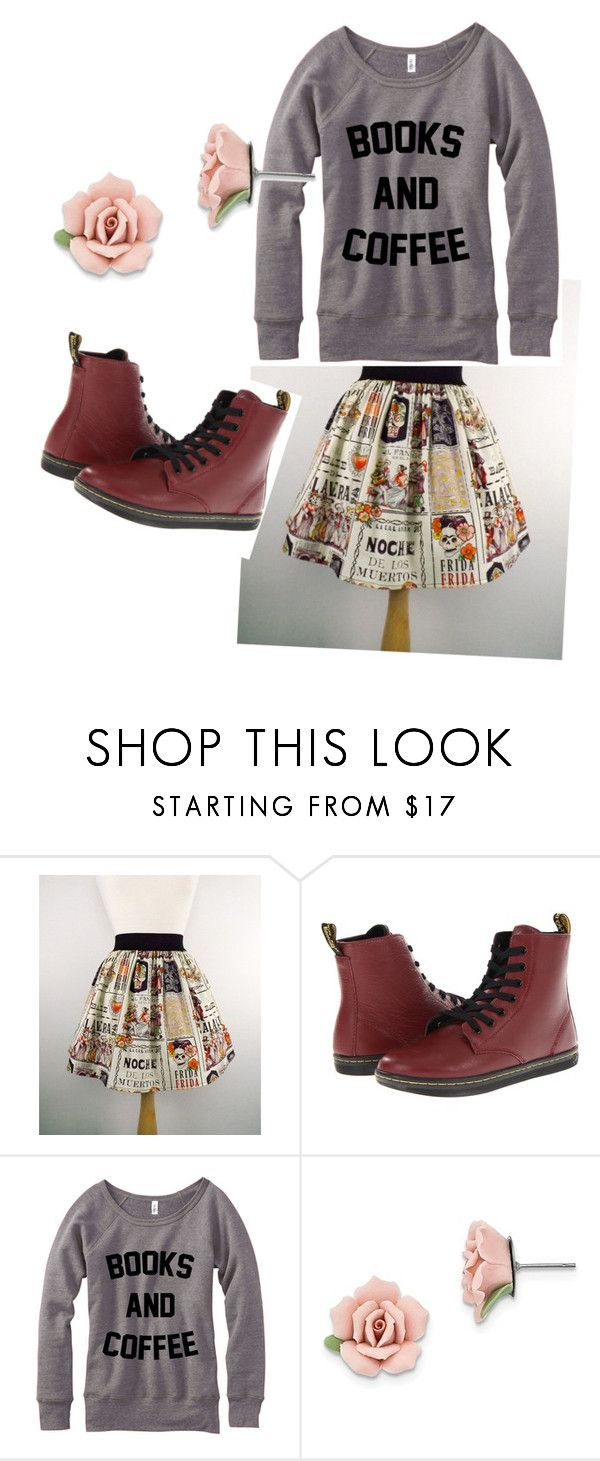 """""""coffee and books"""" by ohjacqui ❤ liked on Polyvore featuring Dr. Martens and 1928"""