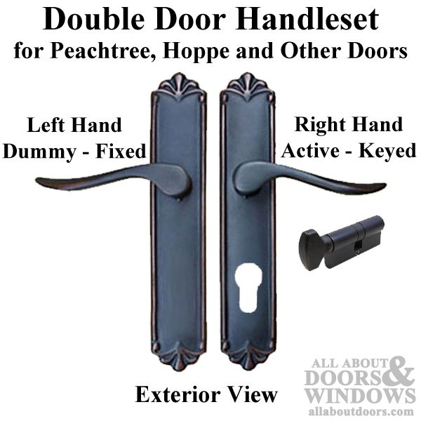 euro style double door fixed active keyed oil rubbed bronze