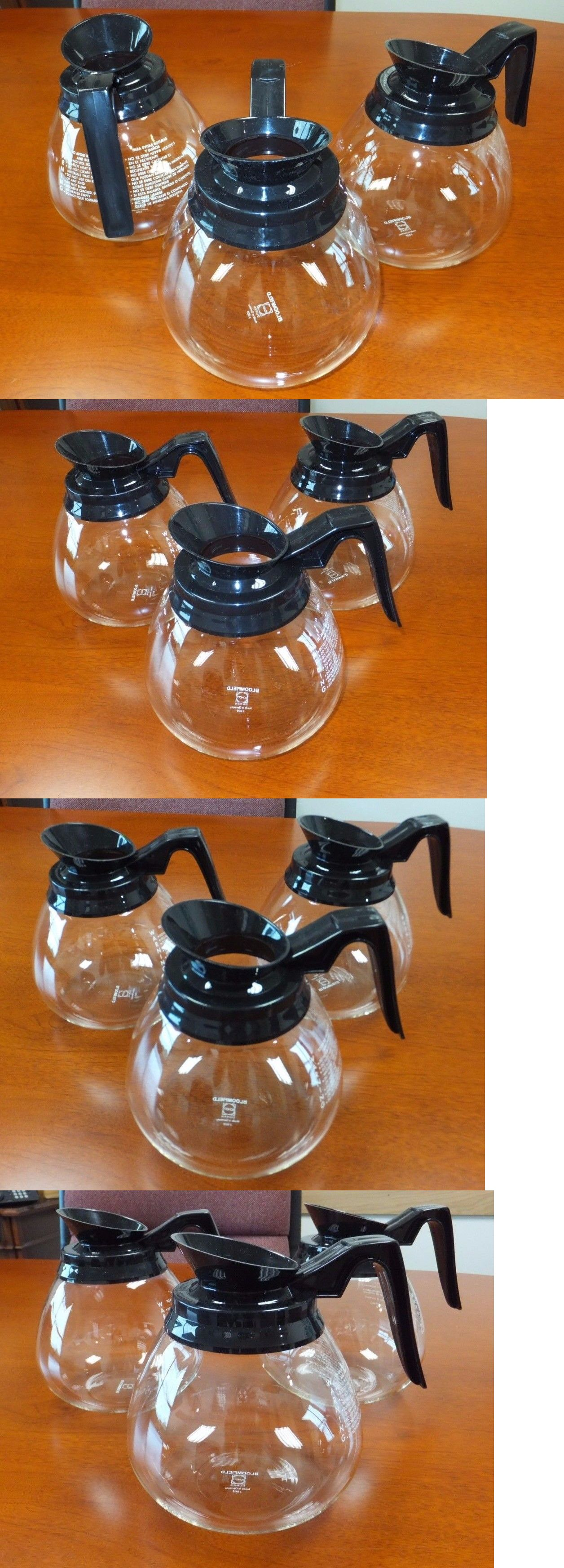 replacement parts and accs 99565 lot of 3 coffee pot decanter