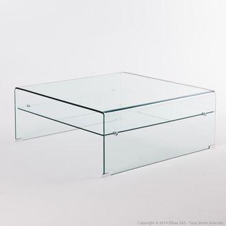 Table basse en verre trempé design déco LeGuide