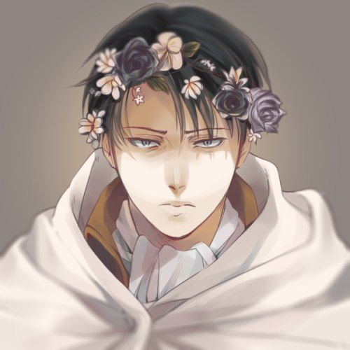 Levi Ackerman || Flower Crown | anime | Attack on titan levi
