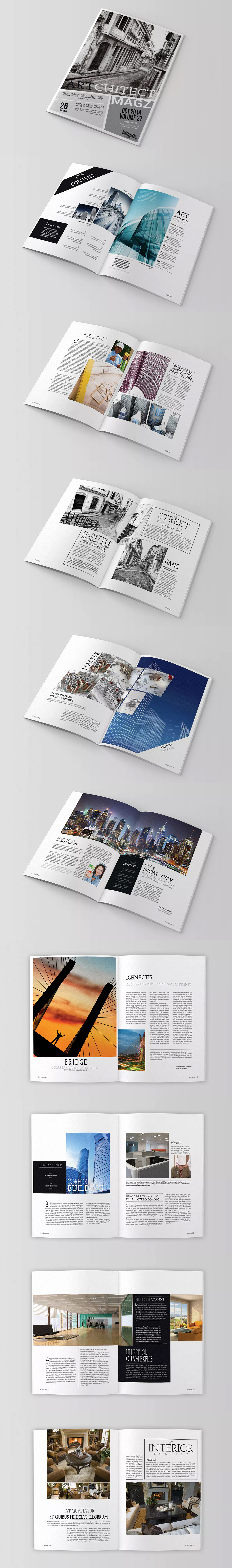 Magazine Template InDesign INDD 26 Pages