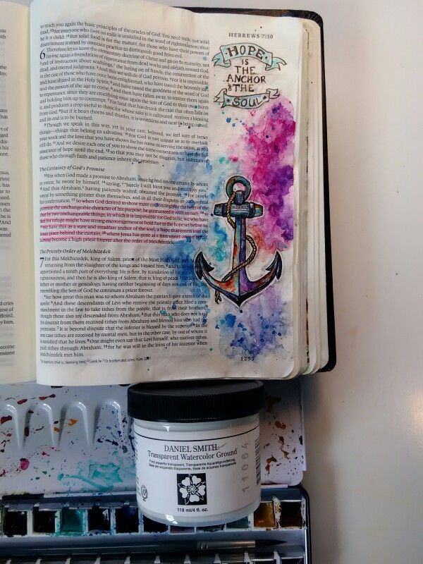 Watercolor Paints On Page Prepped With Daniel Smith Transparent