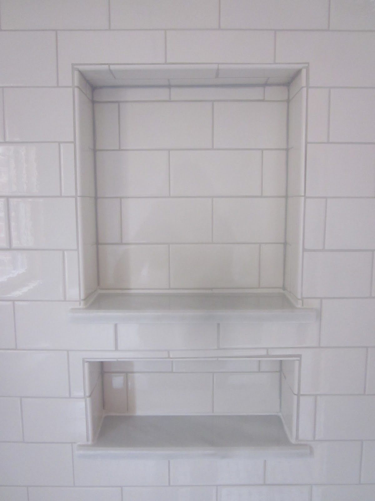 tiling for niche - I\'m not sure if it\'s going to be a single or ...