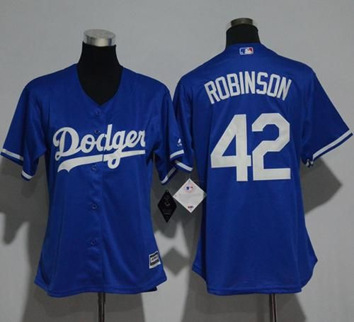 Dodgers  42 Jackie Robinson Blue Alternate Women s Stitched MLB Jersey 0ec3cabf41d