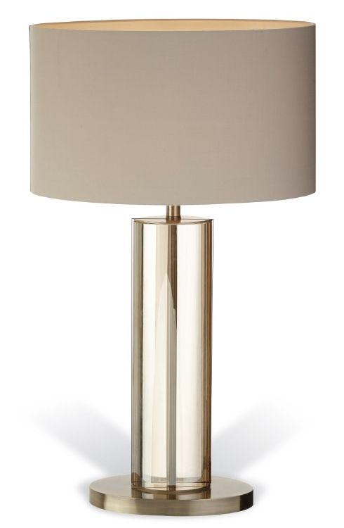Rv Astley Lisle Tall Table Lamp Cognac Crystal And Antique Brass