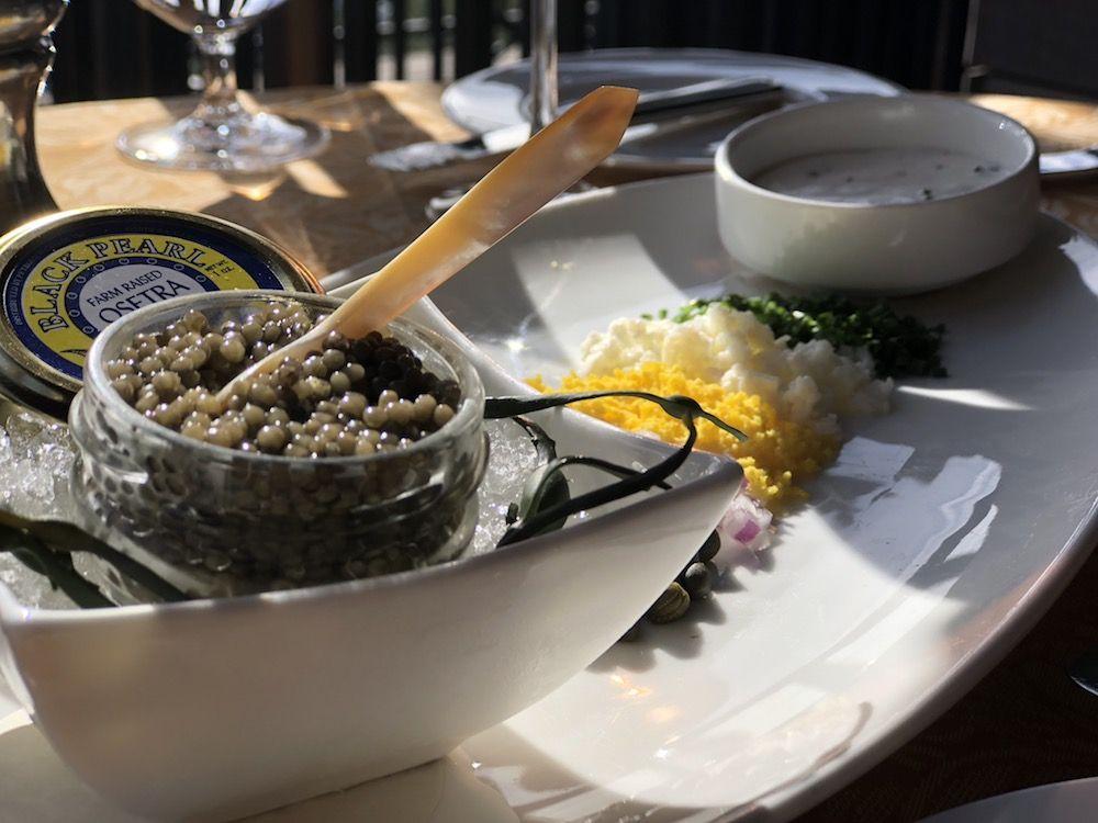a no bullshit food review of auberge de soleil caviar