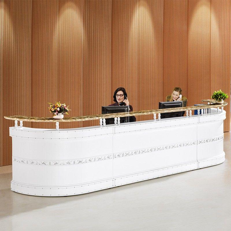 Modern Office Reception Interior Design: High Evaluation Modern Office Reception Counter Design For