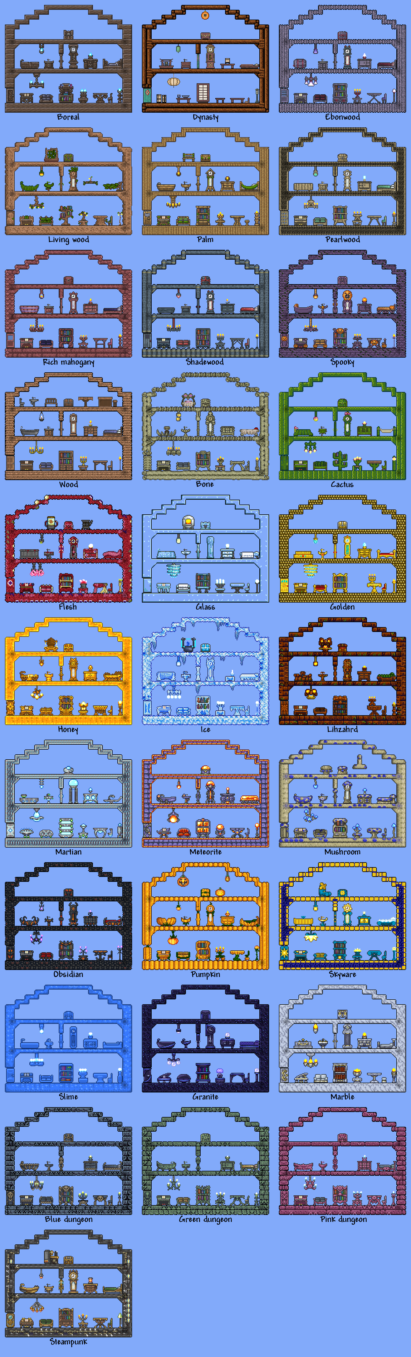 Furniture reference 3 terraria… sigh I know