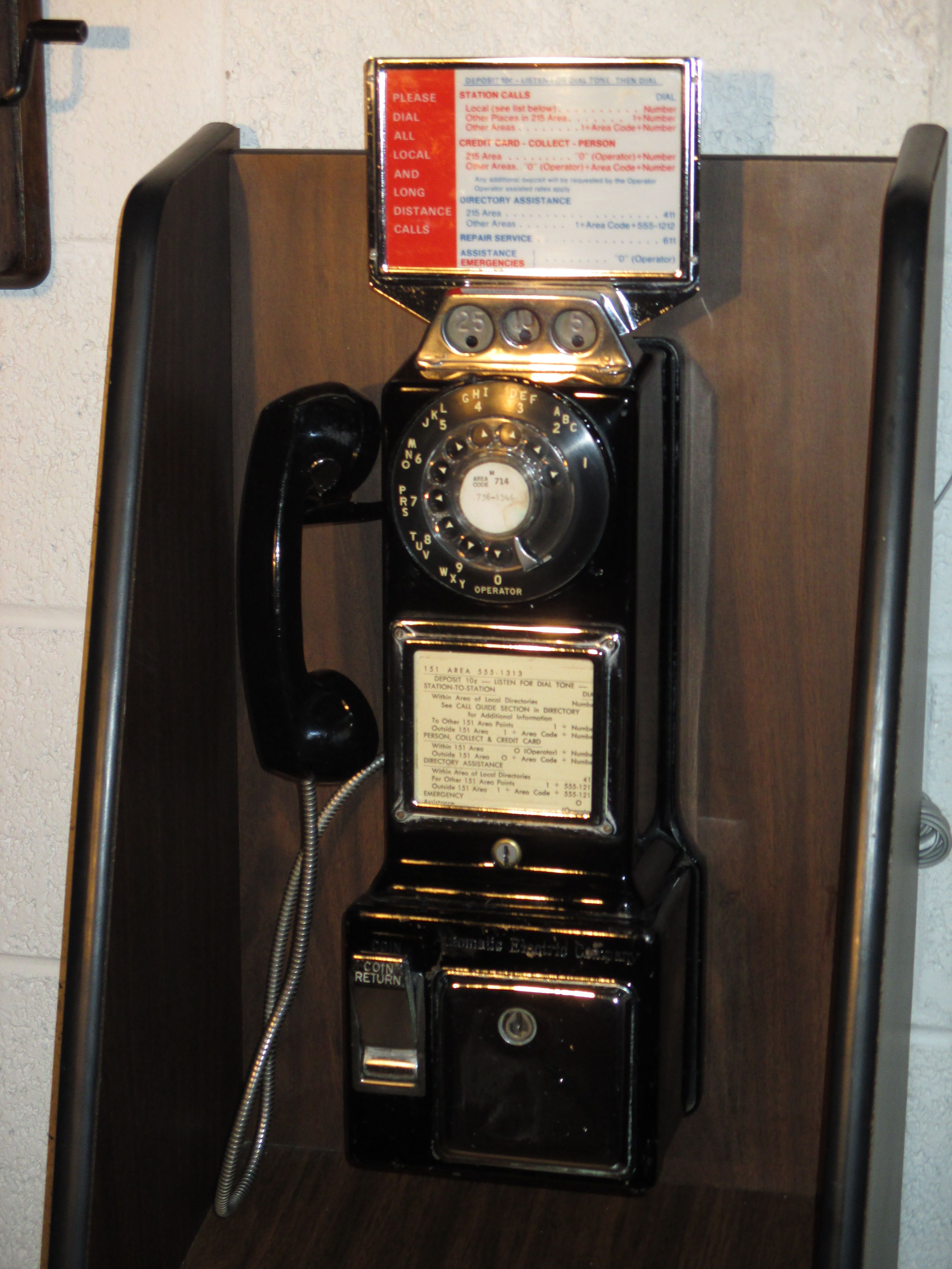 1960 s Automatic Electric Pay Phone Pay phones