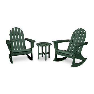 Peachy Polywood Vineyard 3 Piece Plastic Rocking Adirondack Chair Pdpeps Interior Chair Design Pdpepsorg