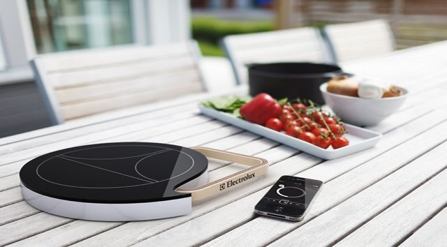 Induction hot plate that is controlled with your smart phone.  Camping just got a whole lot swankier.