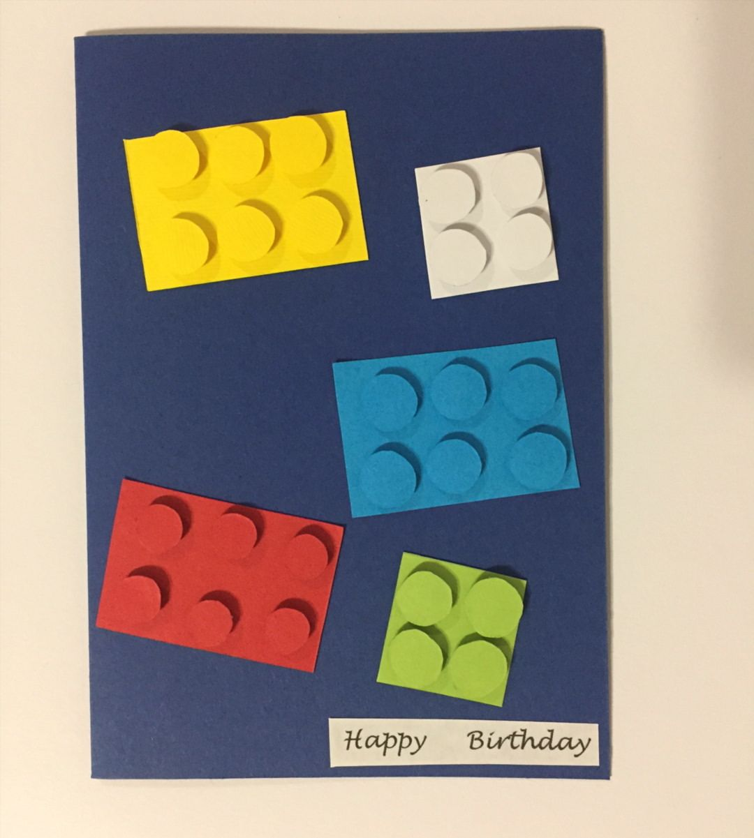 Lego Inspired Birthday Greeting Card Greetingcard Toys Lego