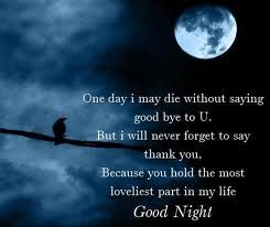 Special Quotes For Special People Romantic Good Night Good Night Messages Good Night Poems
