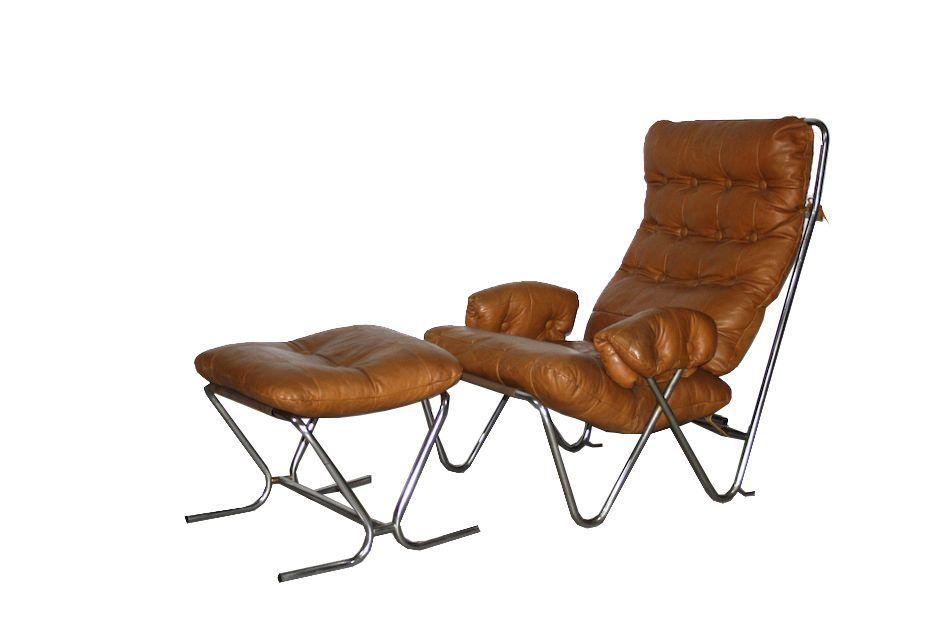 Fine Mid Century Cognac Leather Tubular Chrome Lounge Chair Bralicious Painted Fabric Chair Ideas Braliciousco