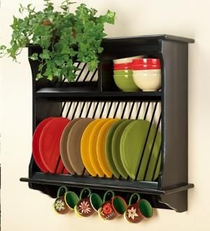 Plate rack insert Country Kitchen Plate Towel and Cup Display Rack & plate shelf by Cláudia Esteves | Plate rack | Pinterest | Shelves ...