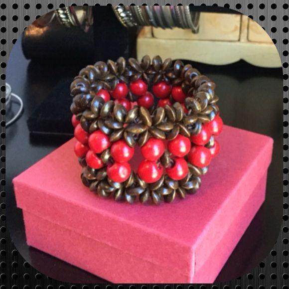 💜 Handmade Wood Beads Stretch Bracelet Beautiful Beacelet Handmade! Violet's Finds Jewelry Bracelets