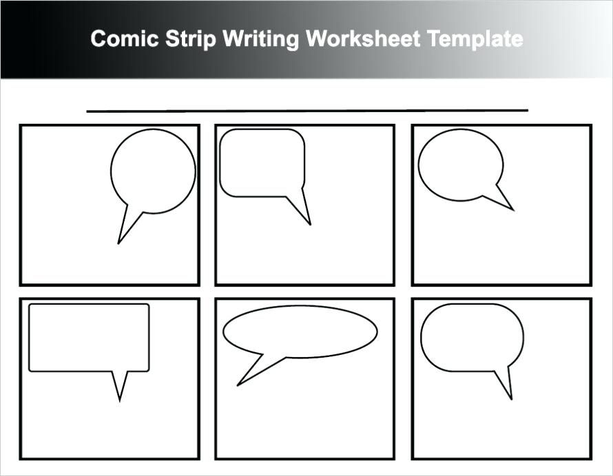 Free Printable Cartoon Strip Template Worksheet Comic Word Pages