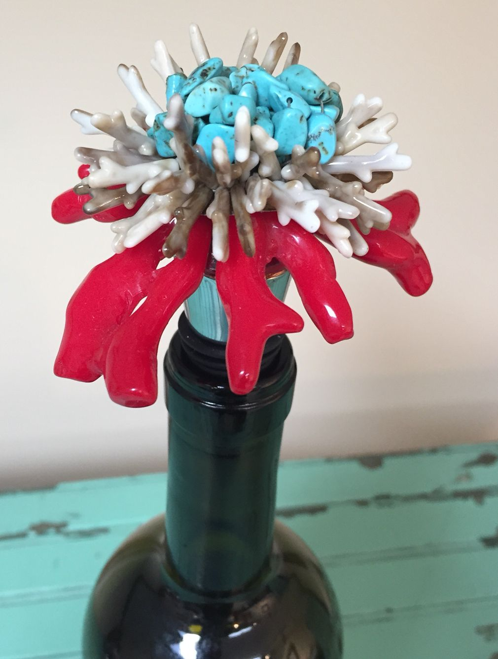Wine Stopper Beach Summer Handmade Wine Stoppers Christmas Ornaments Holiday Decor