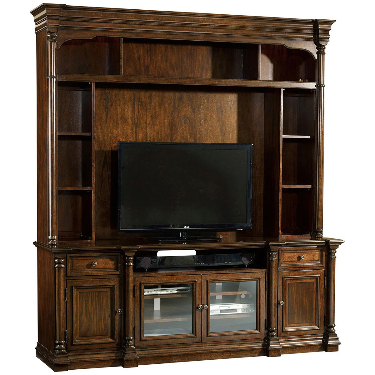 Hooker furniture leesburg wood pc entertainment group