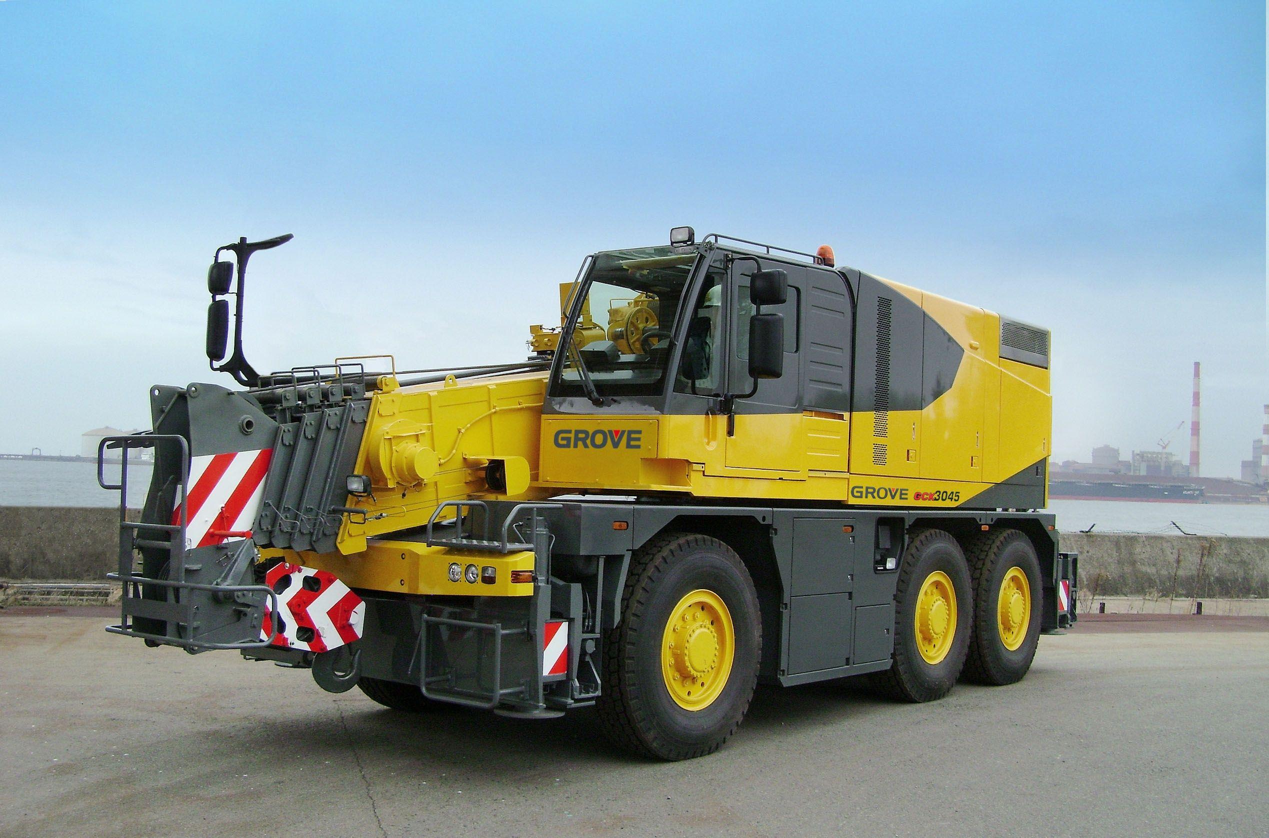 Grove 3045 all terrain mobile crane cranes pinterest for Crane grove